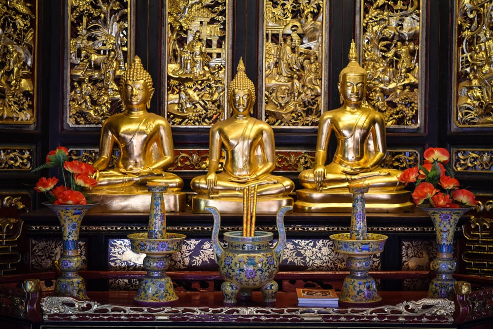 Ancient City in Bangkok goldene Buddhas