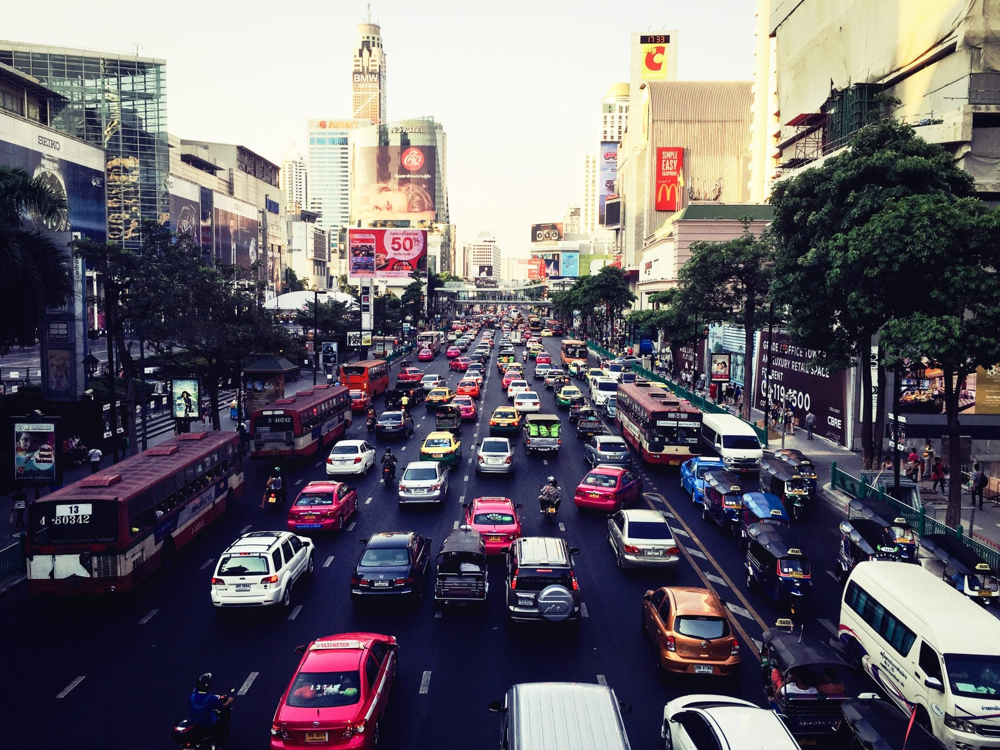 Die Straßen von Bangkok
