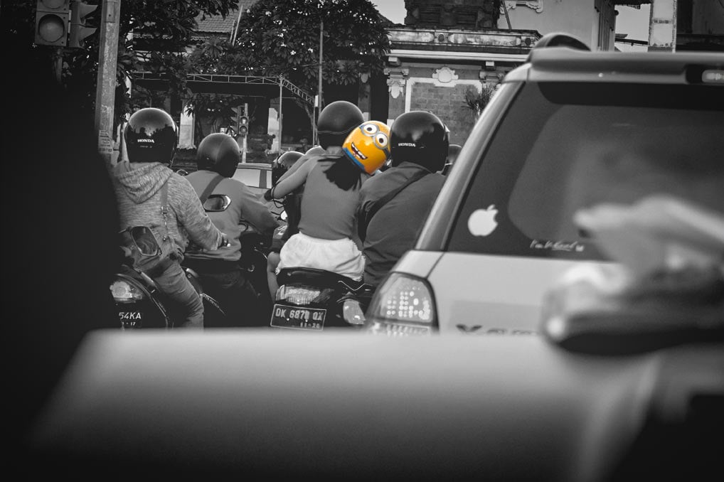 Bali - Minion on the Road