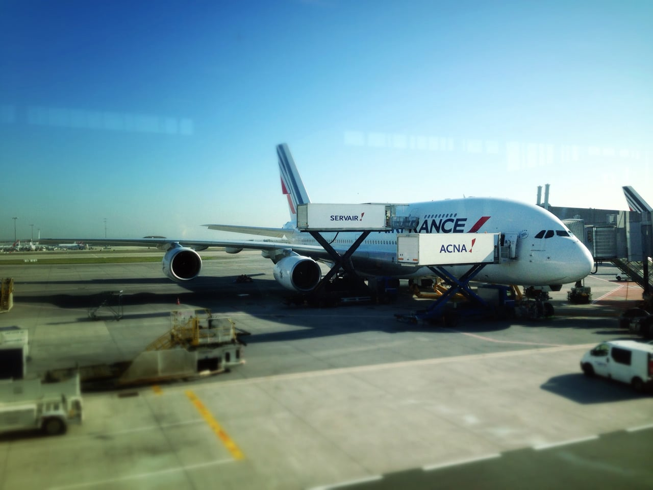 Airbus A380 nach New York