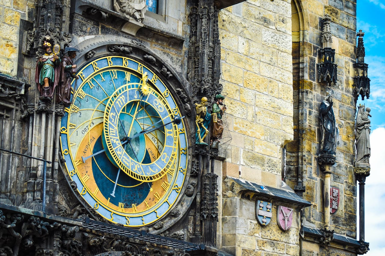 Astronomische Uhr in der Prager Altstadt