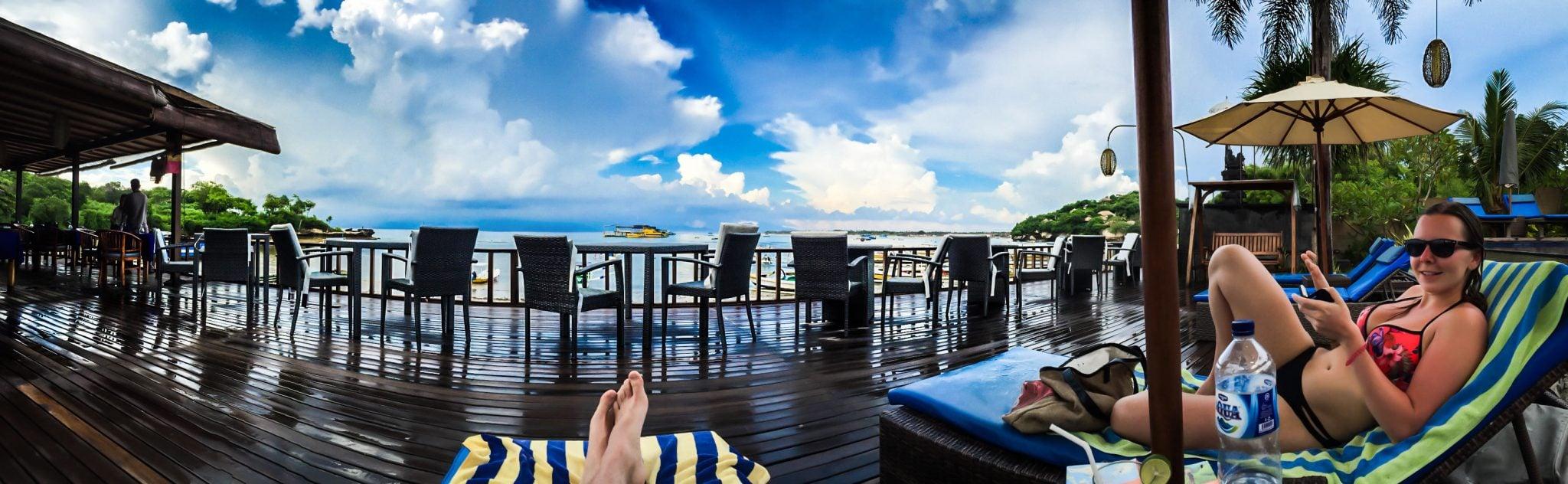 Nusa Lembongan Bay Shore Huts Panorama