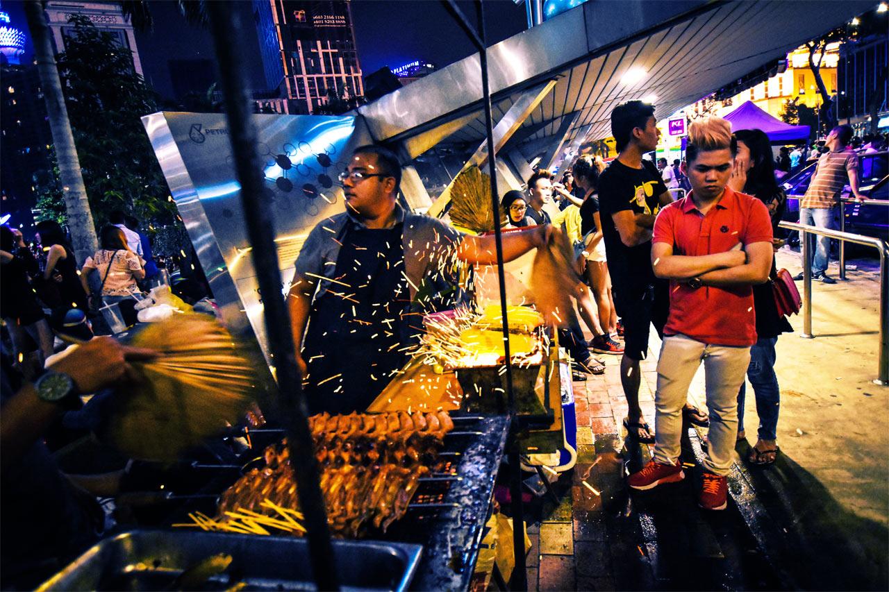 Street Food Silvester Kuala Lumpur